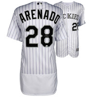 NOLAN ARENADO Colorado Rockies Autographed Majestic White Authentic Jersey FANATICS