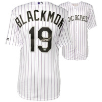 CHARLIE BLACKMON Colorado Rockies Autographed Majestic White Replica Jersey FANATICS
