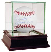 "GARY SANCHEZ Autographed ""MLB Debut 10/3/15"" MLB Baseball Yankees STEINER"