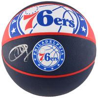 JOED EMBIID Philadelphia 76ers Autographed Courtside Logo Basketball FANATICS
