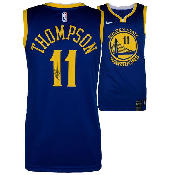 0f0034c93d8 KLAY THOMPSON Golden State Warriors Autographed Blue Nike Swingman ...