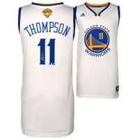 KLAY THOMPSON Golden State Warriors Autographed White 2015 NBA Finals Swingman Jersey FANATICS