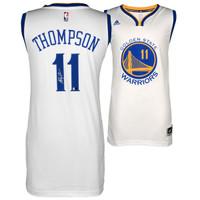 KLAY THOMPSON Golden State Warriors Autographed White Swingman Jersey FANATICS