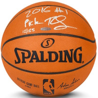 """BEN SIMMONS Signed & Inscribed """"2016 #1 Pick"""" Authentic Basketball UDA LE 50"""