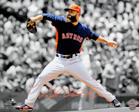 "DALLAS KEUCHEL Autographed Houston Astros Spotlight 16"" x 20"" Photograph TRISTAR"