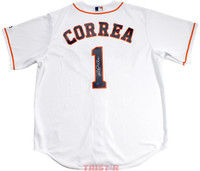 CARLOS CORREA Autographed Houston Astros White Jersey TRISTAR