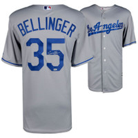 CODY BELLINGER Autographed Los Angeles Dodgers Grey Jersey FANATICS