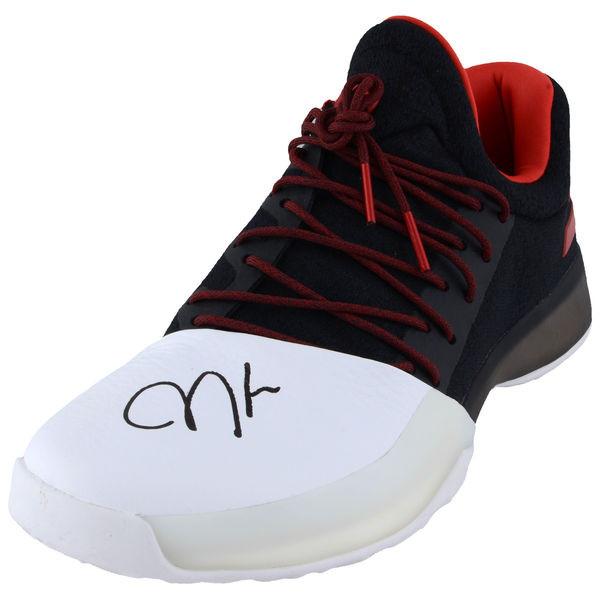 finest selection e22cf 70e76 JAMES HARDEN Houston Rockets Autographed Adidas Black and Red Individual  Shoe FANATICS