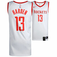 JAMES HARDEN Houston Rockets Autographed Nike White Swingman Jersey FANATICS