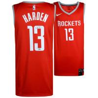 JAMES HARDEN Houston Rockets Autographed Swingman Red Jersey FANATICS