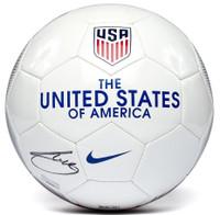 CHRISTIAN PULISIC Autographed Nike USA Soccer Ball PANINI