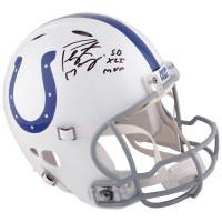 PEYTON MANNING Autographed SB XLI MVP Colts Speed Helmet FANATICS