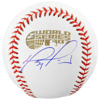 DAVID ORTIZ Autographed Boston Red Sox 2007 World Series Baseball FANATICS