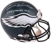 "CARSON WENTZ Autographed ""Fly Eagles Fly"" Authentic Proline Helmet FANATICS"