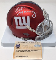 ELI MANNING Autographed New York Giants Mini Blaze Helmet STEINER