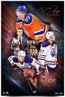 "CONNOR McDAVID Autographed ""2017 NHL Awards"" 16 x 24 Photograph UDA"