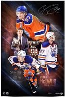 "CONNOR McDAVID Signed / Inscribed ""2017 NHL Awards"" 16 x 24 Photograph UDA LE 97"