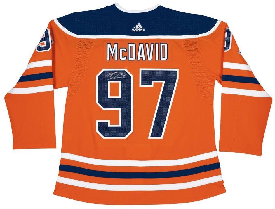 buy online efd7b f15c8 CONNOR McDAVID Autographed Edmonton Oilers Authentic Adidas Orange Jersey  UDA