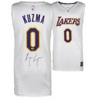 KYLE KUZMA Autographed White Los Angeles Lakers Jersey FANATICS