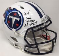 MARCUS MARIOTA Signed / Inscribed Full Name Titans Speed Helmet STEINER LE 8