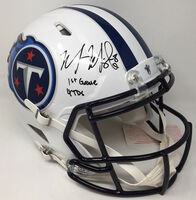 "MARCUS MARIOTA Autographed ""1st Game 4 TDs"" Titans Speed Helmet STEINER LE 8"