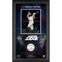 AARON JUDGE Autographed New York Yankees ROY Baseball Collage Shadowbox FANATICS