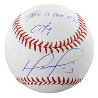 "DAVID ORTIZ Autographed Boston Red Sox ""This is Our F'N City"" Baseball FANATICS"
