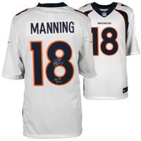 "PEYTON MANNING Autographed Nike ""SB 50 Champs"" Broncos White Jersey FANATICS"