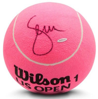 SERENA WILLIAMS Autographed Jumbo Pink Wilson Tennis Ball UDA