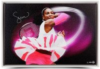 "SERENA WILLIAMS Autographed Framed ""Pioneer"" Canvas 30"" x 20"" UDA LE 25"