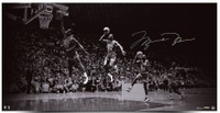 "MICHAEL JORDAN Autographed ""We Have Liftoff"" 36"" x 18"" Photograph UDA LE 123"