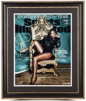 """SERENA WILLIAMS Signed Framed """"Sportsperson Of The Year"""" 16 x 20 Photo UDA LE 25"""