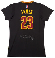 "LEBRON JAMES Autographed Cleveland Cavaliers ""Pride"" Black Jersey UDA"