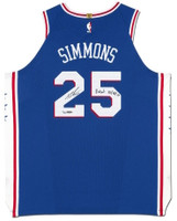 "BEN SIMMONS Autographed 76ers Authentic Nike ""Debut 10/18/17"" Jersey UDA LE 125"