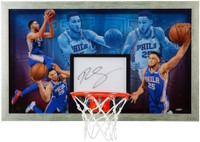 "BEN SIMMONS Autographed ""Facilitator"" Acrylic Backboard Display UDA"