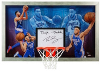 "BEN SIMMONS Signed Inscribed ""Facilitator"" Acrylic Backboard Display UDA LE 25"