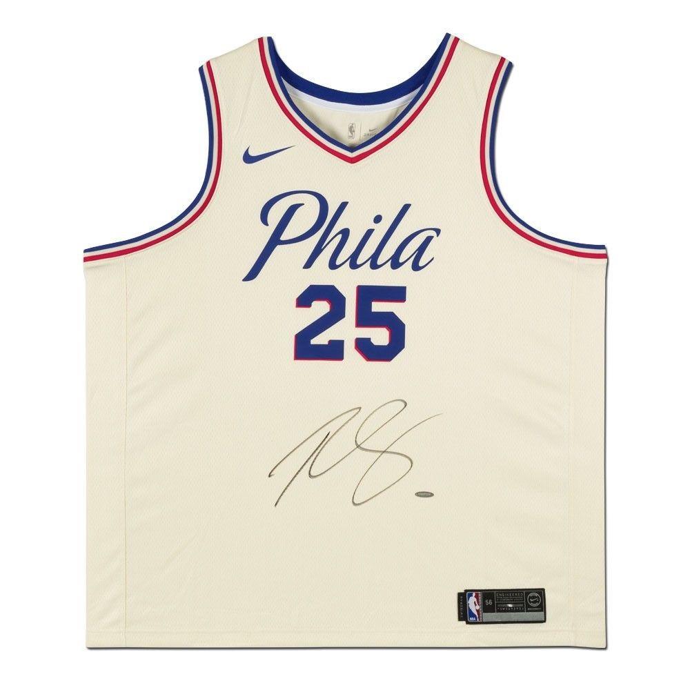 online store 83ba3 1d32e BEN SIMMONS Autographed Sixers White