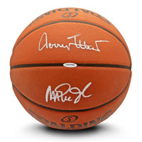 JERRY WEST / MAGIC JOHNSON Autographed Authentic Spalding Basketball UDA