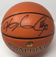 STEPHEN CURRY & KEVIN DURANT Signed Finals Basketball PANINI STEINER LE 1/50