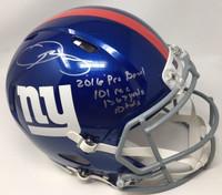 """ODELL BECKHAM JR. Autographed """"2016 Probowl"""" Proline Helmet STEINER LE 13/13"""