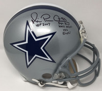 MICHAEL IRVIN Signed / Inscribed HOF 07 Cowboys Proline Helmet STEINER LE 88/88