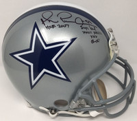 "MICHAEL IRVIN Signed / Inscribed ""HOF 07"" Cowboys Proline Helmet STEINER LE 1/88"