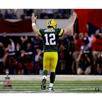 "AARON RODGERS Signed ""SB XLV"" TD Celebration 20 x 24 Photograph STEINER LE 1/12"