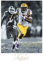 "LEONARD FOURNETTE Signed 16 x 20 ""Breakaway Speed"" Photograph PANINI LE 1/20"