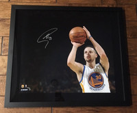 "STEPHEN CURRY Autographed ""3 Point Shot"" 20 x 24 Photograph STEINER LE 30/30"