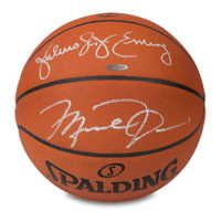 1f2004cf58e MICHAEL JORDAN & JULIUS ERVING Autographed Authentic Spalding Basketball UDA
