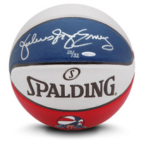 JULIUS ERVING Autographed Authentic Spalding ABA Basketball UDA LE 32