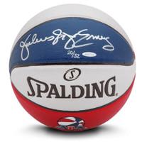 JULIUS ERVING Autographed Authentic Spalding ABA Basketball UDA LE 32