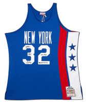 JULIUS ERVING Autographed / Inscribed New Jersey Nets 1975 Authentic Jersey UDA LE 32