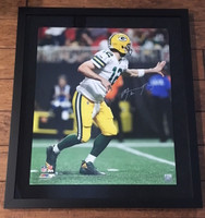 "AARON RODGERS Signed ""Shovel Pass"" 20 x 24 Photograph STEINER LE 12"